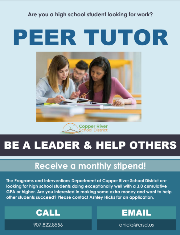 High School Tutoring Position
