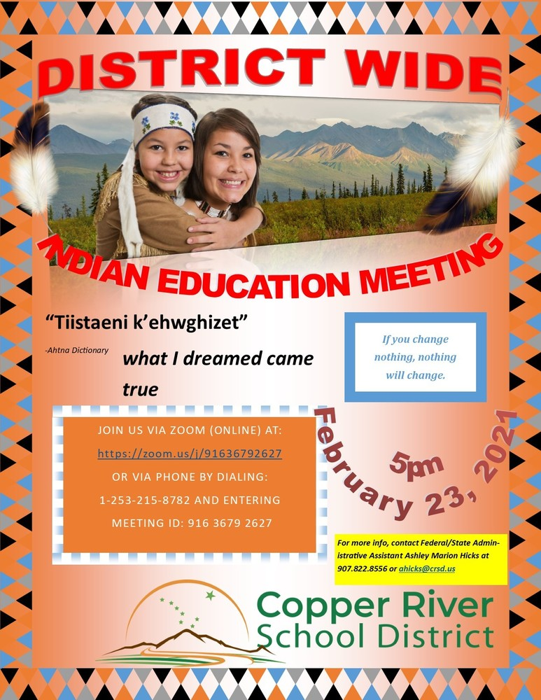 CRSD Indian Education Meeting