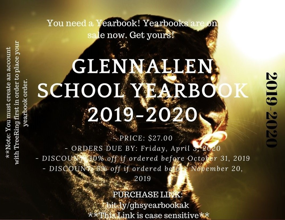 Order your Glennallen School Yearbooks soon!