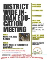 District Wide Indian Education Meeting