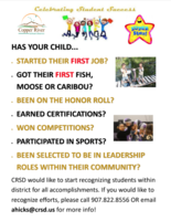 Get your child recognized!