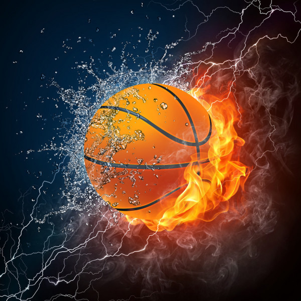 Basketball Image Ball on Fire