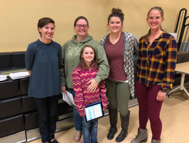 Glennallen Elementary teachers Lucia Kollat (Grade 4), Shianne Montgomery (Grade 2), and Kayla Droste (Grade 6) presented a session on at-home math practice, where they showcased a variety of math apps and provided parents with practice materials to use at home.